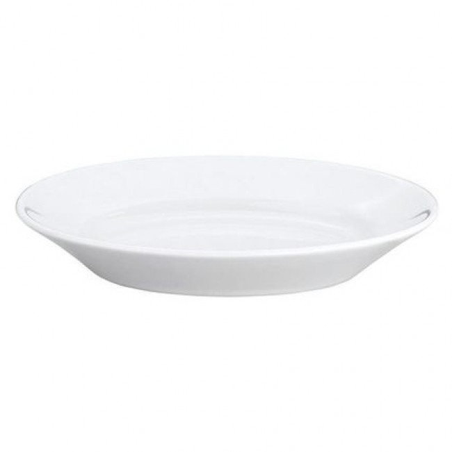 "Oval serving porcelain platter 7"" / 17cm x 4"" / 11.4cm white - Pillivuyt"