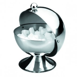 "Ball shape stainless steel sugar pot 5"" / 13cm"