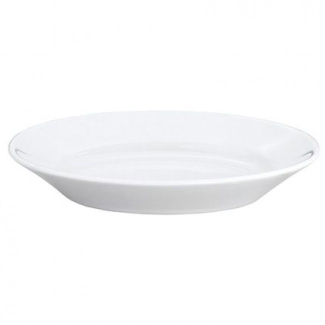 "Oval serving porcelain platter 10"" / 25.1cm x 7"" / 17.2cm white - Pillivuyt"