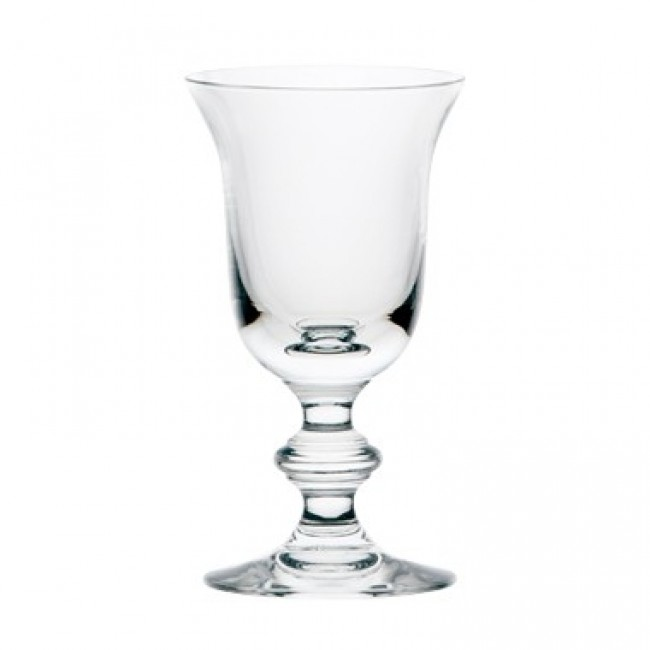 Stem white wine glass 4 oz / 11 cl blown mouth glass bell shape - Set of 6