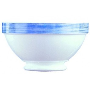 Bowl white / blue 51cl - singly sold