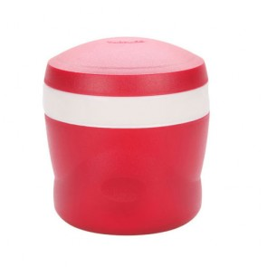 Insulated food jar with folding spoon 24cl / 8oz red