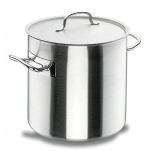 Deep stock pot Ø 24cm with lid - induction stainless steel 18/10 - Chef Classic - Lacor