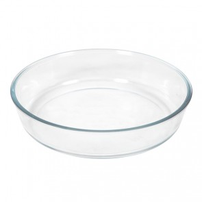 Glass pie dish 10.2 x 2.4""