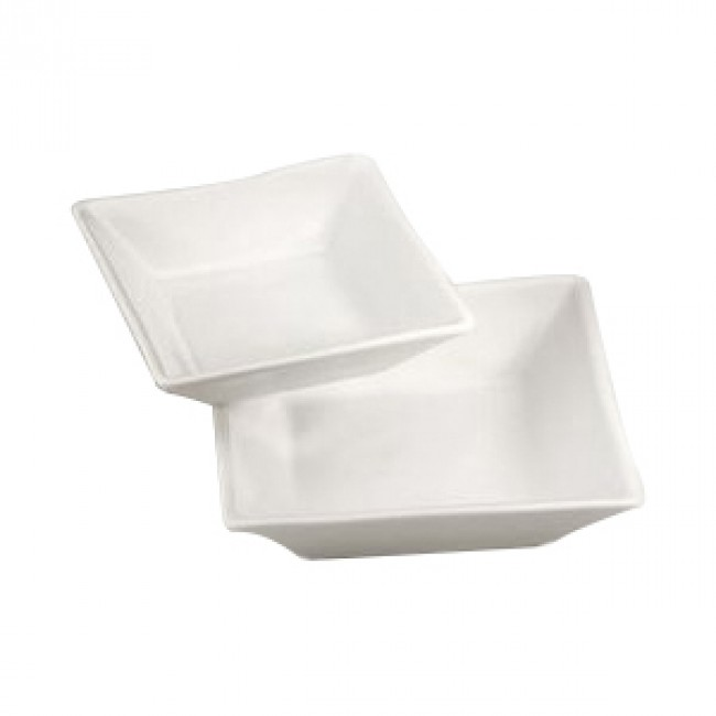 "Porcelain square bowl without rim 6"" x 6"" (14x14cm) 10oz / 30cl white - Quartet - Pillivuyt"