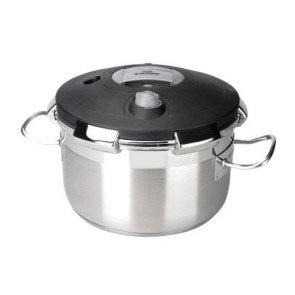 Deep casserole Ø 60cm with lid - induction stainless steel 18/10 - Chef Classic - Lacor
