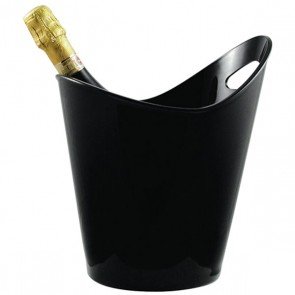 Oval wine bucket in black acrylic - Bucket - Paderno