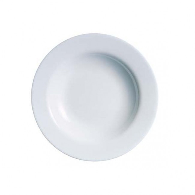 "Deep white plate 8.6"" / 22 cm - Sold by 6"
