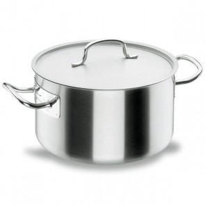 Deep casserole Ø 24cm with lid - induction stainless steel 18/10 - Chef Classic - Lacor