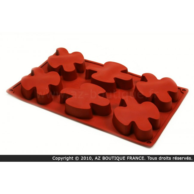 Moule flexible en silicone - 6 colombes- Flexipad - Paderno