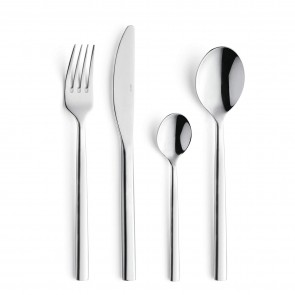 Dessert spoon - 3mm thick 18/0 stainless steel - Set of 6 - Carlton - Amefa