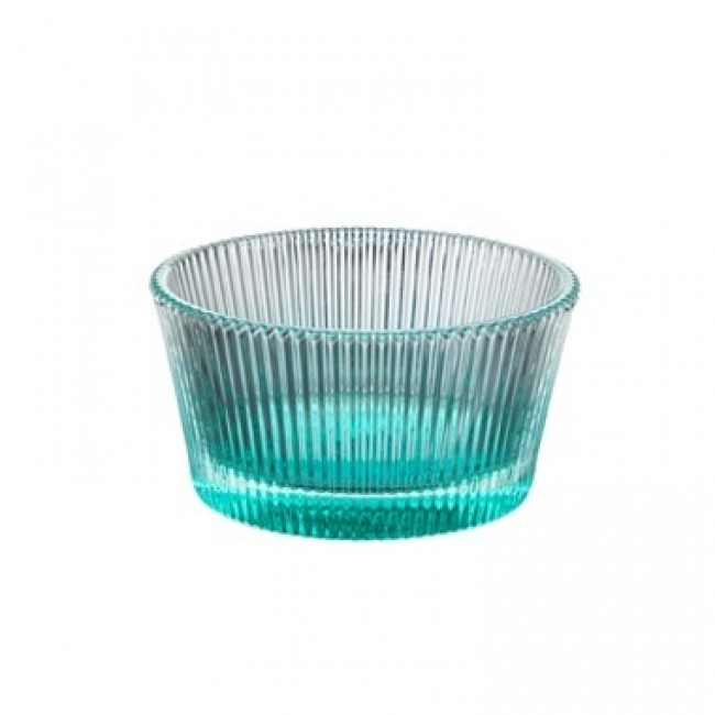 Green pressed glass ice cream bowl 8 oz / 25 cl - Set of 6