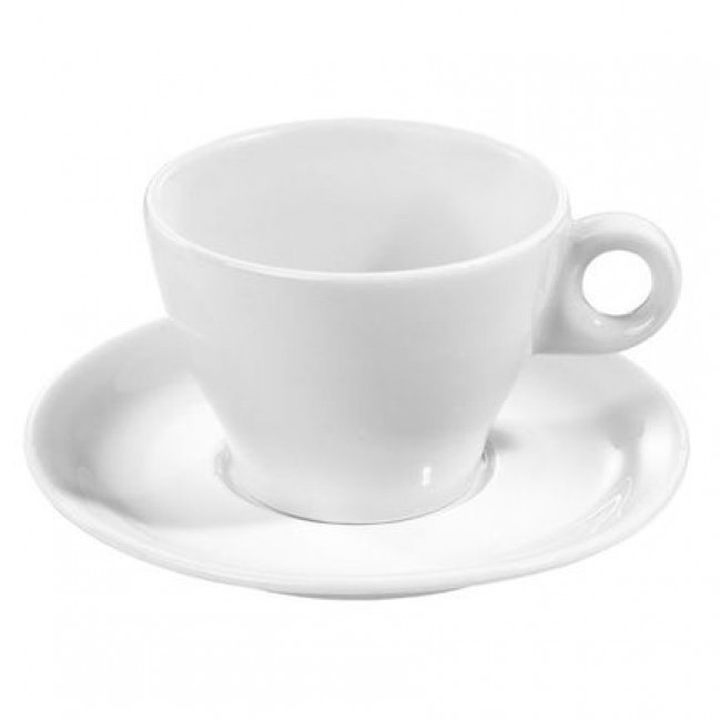"Porcelain breakfast saucer 6"" / 16cm white - Bourges - Pillivuyt"