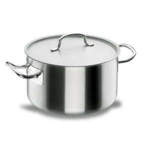 Deep casserole Ø 28cm with lid - induction stainless steel 18/10 - Chef Classic - Lacor
