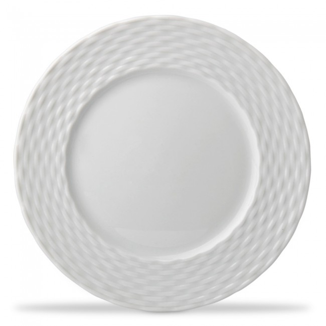 "Porcelain dinner plate 11"" / 28cm white - Basket - Pillivuyt"