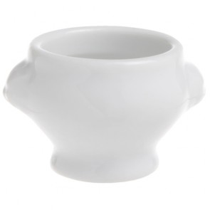 Porcelain aperitif pot white 1.7oz / 5cl - Tête de lion - Cosy & Trendy