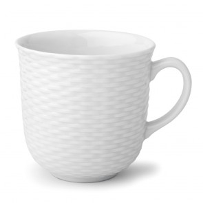 Porcelain mug 13oz / 37cl white - Basket - Pillivuyt