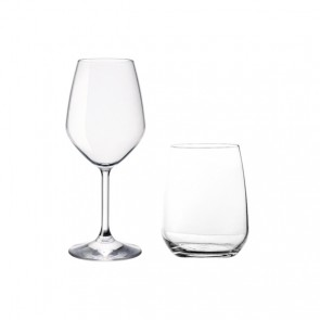 4 wine glasses and 4 low tumbler glasses - set of 8