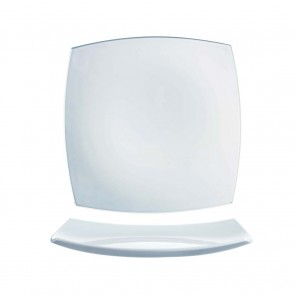 "Porcelain flat square plate 7x7"" / 18x18cm white - Singly sold - Tokio - Cosy & Trendy"