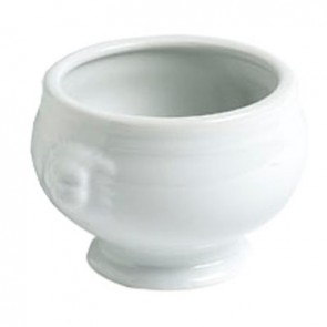 Porcelain soup bowl white 18.6oz / 550ml - Tête de lion - Cosy & Trendy