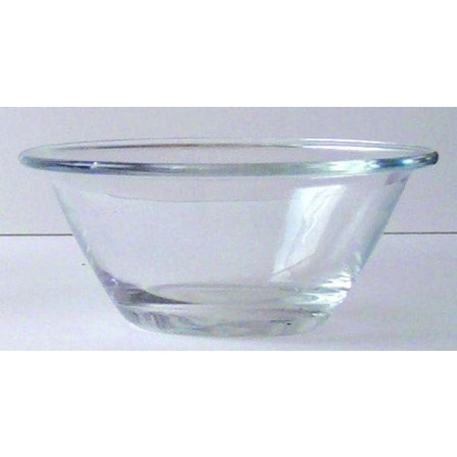"Transparent glass salad bowl 9"" / 22cm - Mister Chef - Bormioli Rocco"
