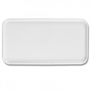 "Rectangular porcelain platter 15"" / 39cm x 6"" / 14.5cm white - Quartet - Pillivuyt"