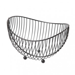 Fruit basket chrome black 25.2cm x 22cm x 27.5cm - Chrome - Cosy & Trendy