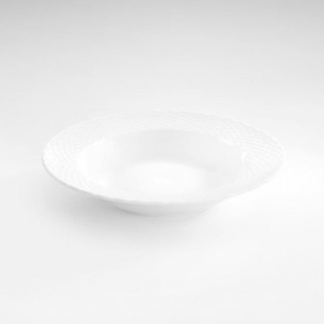 "Porcelain soup plate 9"" / 23cm white - Basket - Pillivuyt"