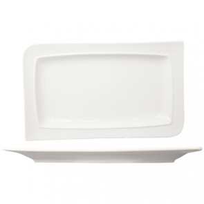 "White porcelain rectangular plate 11x6""/28x16cm - Singly sold"