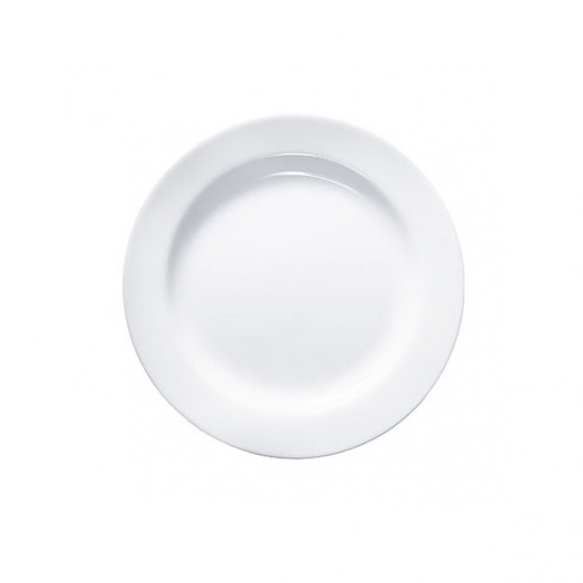"Round white plate 10.6"" / 27 cm - Sold by 6"