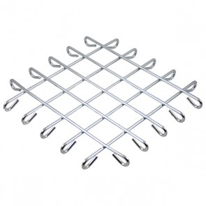 Plate mat square in stainless steel 22cm x 22cm x 2cm - Wire - Cosy & Trendy