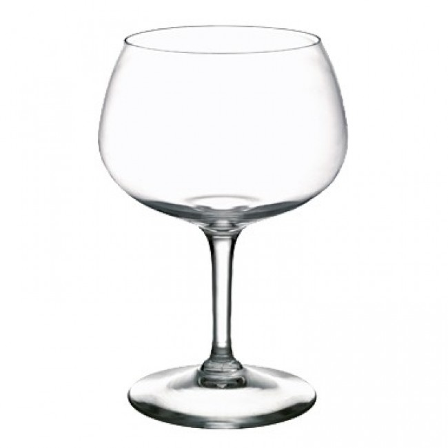 Transparent mouth blown crystalline balloon tasting glass 17 oz / 50 cl - Set of 6