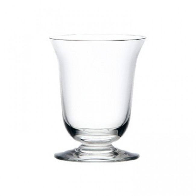 Stem water glass 7 oz / 22.5 cl blown mouth glass bell shape - Set of 6