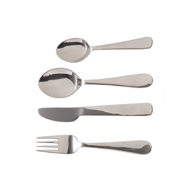Kids cutlery set in stainless steel - Set of 4 - Cosy & Trendy
