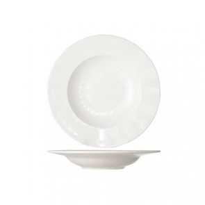 Round white cream soup plate 23 cm high quality porcelain - Set of 6 - Buffet - Cosy & Trendy