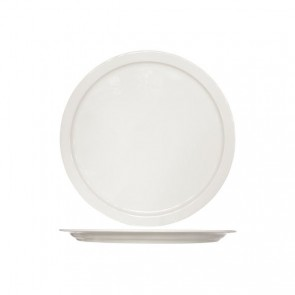 Round white cream pizza plate 32 cm height 2 cm high quality porcelain - Set of 6 - Buffet - Cosy & Trendy