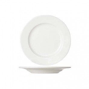 Round white cream dessert plate 21 cm high quality porcelain - Set of 6 - Buffet - Cosy & Trendy