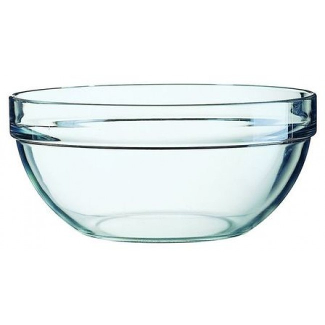 Glass salad bowl 17cm - singly sold