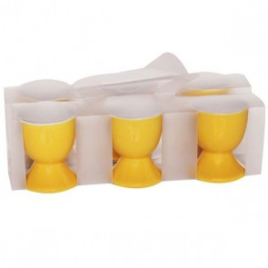 Eggcup in yellow stoneware - Batch of 6 - Cosy & Trendy