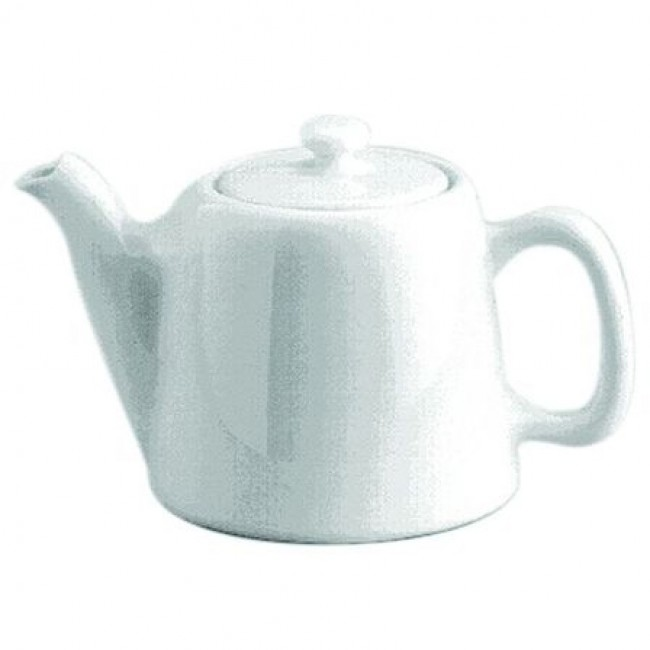 Standard porcelain teapot 6 servings 25oz / 75cl white - Pillivuyt