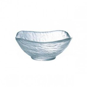 "Square transparent glass cup 4.7"" / 12cm"