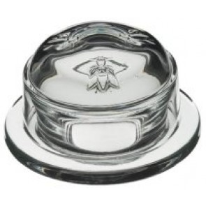 Butter / jam dish with glass dome - Singly sold - Abeille - La Rochère