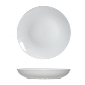 Round white soup plate 21 cm porcelain - Set of 6 - Toulouse - Cosy & Trendy
