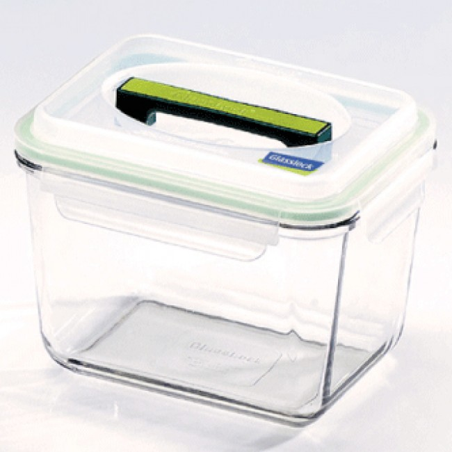 rectangular lunch box bento 250cl with airtight lid handy glasslock. Black Bedroom Furniture Sets. Home Design Ideas