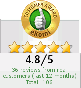 AZ boutique rated 4,8 / 5 on Ekomi