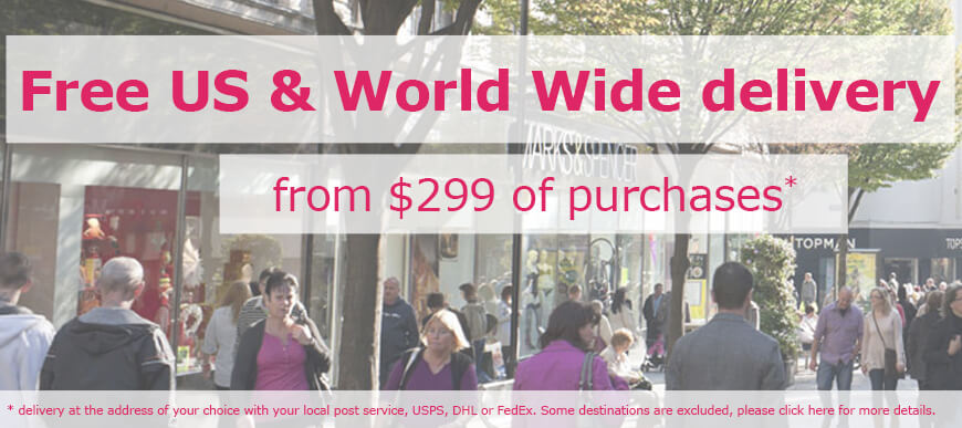 Free delivery to US & World Wide from $149 of purchases
